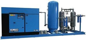 hệ thống máy nén khí kobelco sau khi lắp đặt hoàn chỉnh