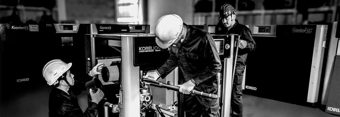 lắp đặt, sửa chữa, bảo trì, bão dưỡng, thay thế thiết bị máy nén khí